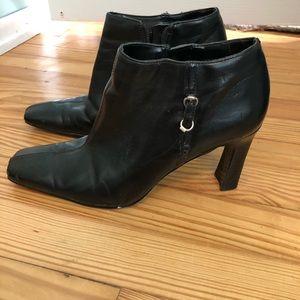 Used bandolino leather booties